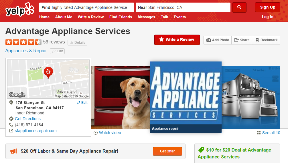Best San Francisco Appliance Repair company on Yelp